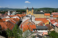 View of Trencin from Parish Church.