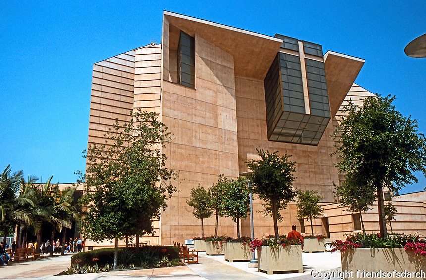 Los Angeles: Cathedral of Our Lady of the Angels--from Entrance Plaza. Photo '04.
