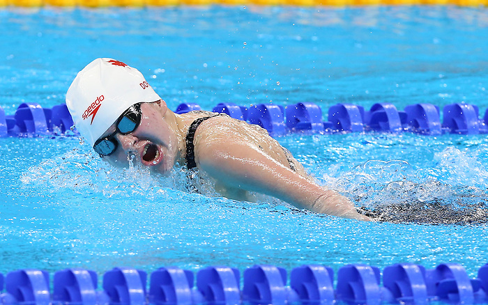 Rio de Janeiro-9/9/2016- Danielle Doris competes in the women's 100m fly during the swimming  at the 2016 Paralympic Games in Rio. Photo Scott Grant/Canadian Paralympic Committee