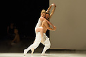 """London, UK. 22.06.2014. Eastman/Sidi Larbi Cherkaoui presents """"4D"""", a compilation of duets from his work, as part of Sadler's Sampled, a two week taster festival of dance at low prices, which runs to 29th June. Picture shows: """"Pure"""" with Guro Nagelhus Schia and Vebjorn Sundby. Photograph © Jane Hobson."""