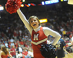 Mississippi cheerleader vs. Memphis in NIT second round basketball action at the C.M. &quot;Tad&quot; Smith Coliseum in Oxford, Miss. on Friday, March 19, 2010. Ole Miss won 90-81.