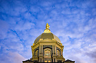 December 26, 2016; Evening clouds over the Dome (Photo by Matt Cashore/University of Notre Dame)