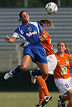 03 July 2008: Charlotte's Christina Murphy heads the ball. The Charlotte Lady Eagles defeated the Carolina Railhawks Women 3-0 at WakeMed Stadium in Cary, NC in a 2008 United Soccer League W-League regular season game.