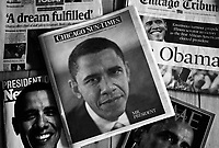 USA press published the day after the historic election of Barack Obama as the 44th President of the USA.