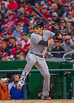 7 April 2016: Miami Marlins outfielder Christian Yelich at bat during the Washington Nationals Home Opening Game at Nationals Park in Washington, DC. The Marlins defeated the Nationals 6-4 in their first meeting of the 2016 MLB season. Mandatory Credit: Ed Wolfstein Photo *** RAW (NEF) Image File Available ***