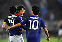 (L-R) Kengo Nakamura, Shinji Kagawa (JPN),.OCTOBER 11, 2011 - Football / Soccer :.Shinji Kagawa of Japan celebrates with his teammate Kengo Nakamura after scoring their fourth goal during the 2014 FIFA World Cup Asian Qualifiers Third round Group C match between Japan 8-0 Tajikistan at Nagai Stadium in Osaka, Japan. (Photo by Takahisa Hirano/AFLO)