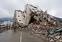Onagawa, Japan - A photo made available on April 11 shows Japanese Self-Defense Force members perform a search in an area damaged by the devastating March 11 earthquake and tsunami that rocked the northern part of Japan. (Photo by Christopher Jue/AFLO) [2331] **ITALY OUT**