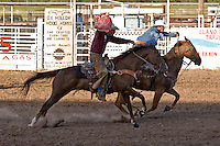 JUNCTION, TX - AUGUST 10, 2007: The Hill Country Fair Association Summer Classic Ranch Rodeo held at the Hill Country Fair Association Fairgrounds in Junction, Texas. (Photo by Jeff Huehn)