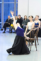 "PNB Friday Previews: 3 by Dove. In studio rehersal of Ulysses Dove's ""Vespers"" and Victor Quijada's ""Suspension of Disbelief""."