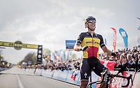 101th Ronde Van Vlaanderen 2017 (1.UWT) race winner Philippe Gilbert (BEL/Quick Step floors) crossing the finish line in Oudenaarde<br /> <br /> 1day race: Antwerp &rsaquo; Oudenaarde - BEL (260km)