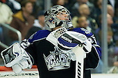 Jonathan Quick (Los Angeles Kings, #32) during ice-hockey match between Los Angeles Kings and Detroit Red Wings in NHL league, February 28, 2011 at Staples Center, Los Angeles, USA. (Photo By Matic Klansek Velej / Sportida.com)