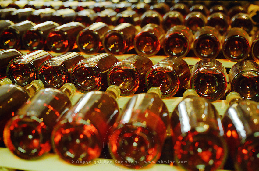 "The Royal Tokaji Wine company in Mad: aging bottles of dark red-golden Tokaj wine. The RTWC in was one of the first Tokaj wineries to be ""revived"" by an injection of foreign capital. It makes wine in a traditional style. Credit Per Karlsson BKWine.com"