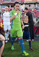 August 10, 2013: Seattle Sounders FC midfielder Mauro Rosales #10 leads his team onto the pitch before the opening ceremonies  in an MLS regular season game between the Seattle Sounders and Toronto FC at BMO Field in Toronto, Ontario Canada.<br /> Seattle Sounders FC won 2-1.