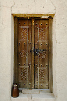 United Arab Emirates, Abu Dhabi, Al Ain, Old weathered doorway