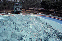 The Mapa En Relieve in Parque Minerva, Guatemala City, Guatemala. This giant relief map of Guatemala was constructed in 1904 by Francisco Vela.