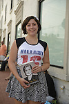 Huntington, New York, U.S. - August 6, 2014 - CHELSEA CIRRUZZO, 18, of Northport, is waiting on line to attend the book signing for H. Clinton's new memoir, Hard Choices, at the Book Revue in Huntington, Long Island. Clinton's book is about her four years as America's 67th Secretary of State and how they influence her view of the future.