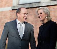 Prince Albert II of Monaco meets with Princess Asrrid & Prince Lorenz of Belgium - Brussels