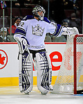 31 January 2009: Los Angeles Kings' goaltender Jonathan Quick warms up prior to facing the Montreal Canadiens at the Bell Centre in Montreal, Quebec, Canada. The Canadiens defeated the Kings 4-3. ***** Editorial Sales Only ***** Mandatory Photo Credit: Ed Wolfstein Photo