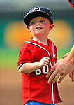 19 June 2011: Washington Nationals' pitcher Todd Coffey has his 2-year old son Harrison join him on the field after a Father's Day game against the Baltimore Orioles at Nationals Park in Washington, District of Columbia. The Orioles defeated the Nationals 7-4 in inter-league play, ending Washington's 8-game winning streak. Mandatory Credit: Ed Wolfstein Photo