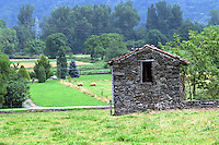 A tiny hut near the village of Thebe in the south of France.  Thebe rests, nestled among the Pyrenees mountains.