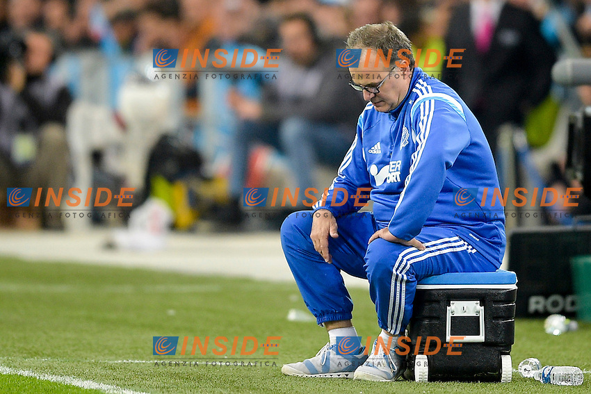 deception de Marcelo BIELSA - entraineur (OM) <br /> Football Calcio 2014/2015<br /> Ligue 1 Francia Stadio VelodromeOlympique Marsiglia - Paris Saint Germain <br /> Foto Panoramic / Insidefoto <br /> ITALY ONLY