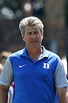 28 August 2016: Duke head coach John Kerr. The Duke University Blue Devils hosted the University of North Carolina Asheville Bulldogs at Koskinen Stadium in Durham, North Carolina in a 2016 NCAA Division I Men's Soccer match. Duke won the game 5-1.