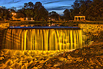 Mill Pond and gazebo in Menomonee Falls Wisconsin HDR
