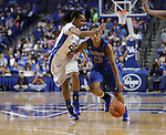 UK guard Maegan Conwright guards DePaul guard Chanise Jenkins during the first half of the women's basketball game v. Depaul University in Rupp Arena in Lexington, Ky., on Sunday, December 7, 2012. Photo by Genevieve Adams | Staff