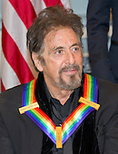 Actor Al Pacino, one of the five recipients of the 39th Annual Kennedy Center Honors, poses for a group photo following a dinner hosted by United States Secretary of State John F. Kerry in their honor at the U.S. Department of State in Washington, D.C. on Saturday, December 3, 2016.  The 2016 honorees are: Argentine pianist Martha Argerich; rock band the Eagles; screen and stage actor Al Pacino; gospel and blues singer Mavis Staples; and musician James Taylor.<br /> Credit: Ron Sachs / Pool via CNP