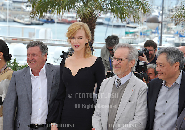 Daniel Auteuil (left), Nicole Kidman, Steven Spielberg & Ang Lee at the photocall for the Jury of the 66th Festival de Cannes..May 15, 2013  Cannes, France.Picture: Paul Smith / Featureflash
