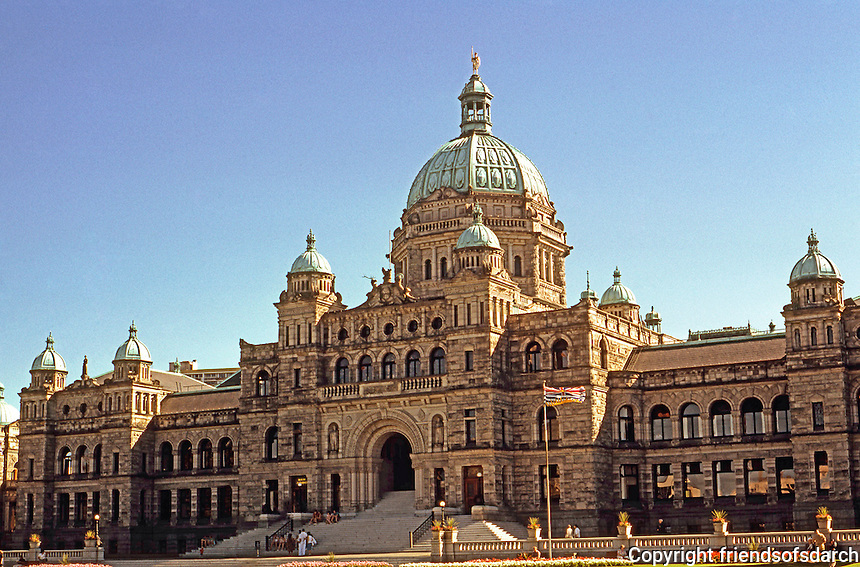 Victoria: Provincial Legislative Buildings, 1897. When Francis Rattenbury won the International Competition, he was 25.  Photo '88.