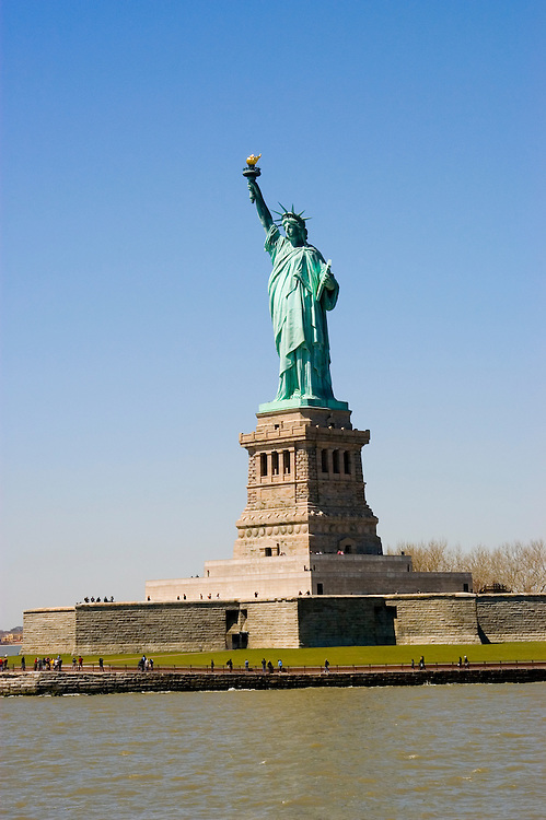 New York City, New York:  Statue of Liberty, Liberty Island  .Photo #: ny203-14635  .Photo copyright Lee Foster, www.fostertravel.com, lee@fostertravel.com, 510-549-2202.
