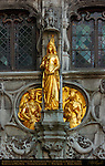 Archduke of Austria Maximilian III, Archduchesses Mary of Burgundy and Margaret of York, Basilica of the Holy Blood Facade Detail, Burg Square, Bruges, Brugge, Belgium