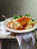 British Food - Roast chicken Breast & Gravy