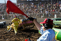 Demolition Derby at the Lake Perris Fair, Perris, Southern California, California, United States, North America. October 2008, ©Stephen Blake Farrington