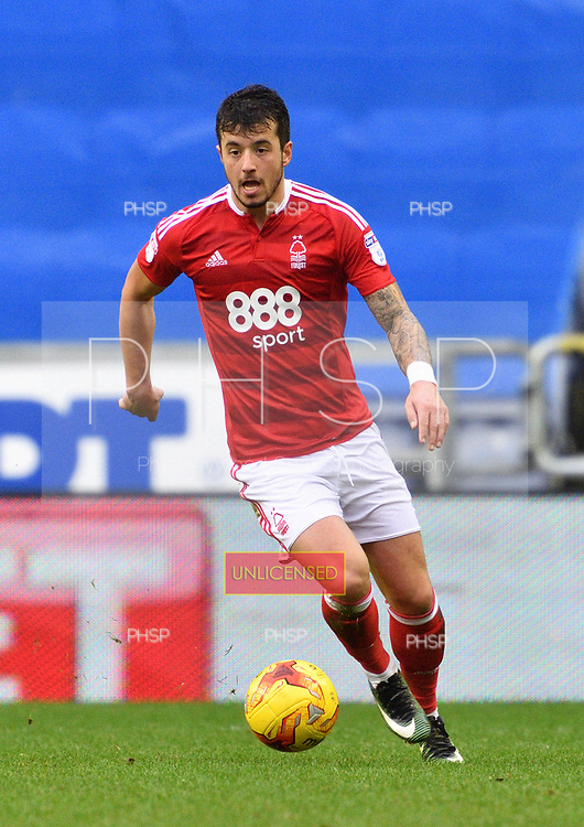 25/02/2017 Sky Bet Championship Wigan Athletic v Nottingham Forest<br /> <br /> Daniel Pinillos, Nottingham Forest FC