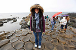 Allison is seen in the rain at The Giant's Causeway in County Antrim, Northern Ireland on Saturday, June 22nd 2013. (Photo by Brian Garfinkel)