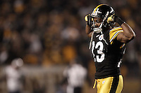 PITTSBURGH, PA - OCTOBER 30:  Keenan Lewis #23 of the Pittsburgh Steelers celebrates in the final seconds of the game against the New England Patriots during the game on October 30, 2011 at Heinz Field in Pittsburgh, Pennsylvania.  (Photo by Jared Wickerham/Getty Images)