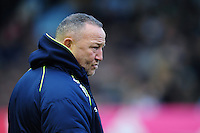Sale Sharks Director of Rugby Steve Diamond looks on during the pre-match warm-up. Aviva Premiership match, between Harlequins and Sale Sharks on January 7, 2017 at the Twickenham Stoop in London, England. Photo by: Patrick Khachfe / JMP