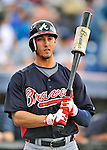 6 March 2011: Atlanta Braves' outfielder Jordan Schafer stands on deck during a Spring Training game against the Washington Nationals at Space Coast Stadium in Viera, Florida. The Braves shut out the Nationals 5-0 in Grapefruit League action. Mandatory Credit: Ed Wolfstein Photo