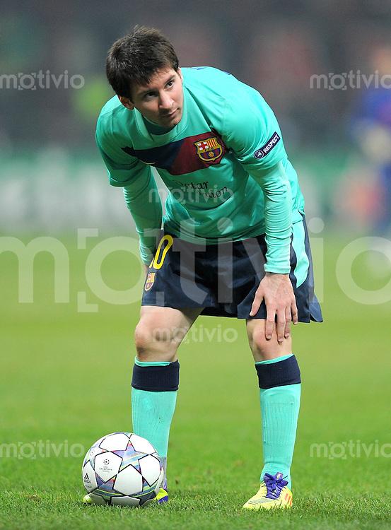 FUSSBALL   CHAMPIONS LEAGUE   SAISON 2011/2012     23.11.2011 AC Mailand - FC Barcelona Lionel Messi (Barca)