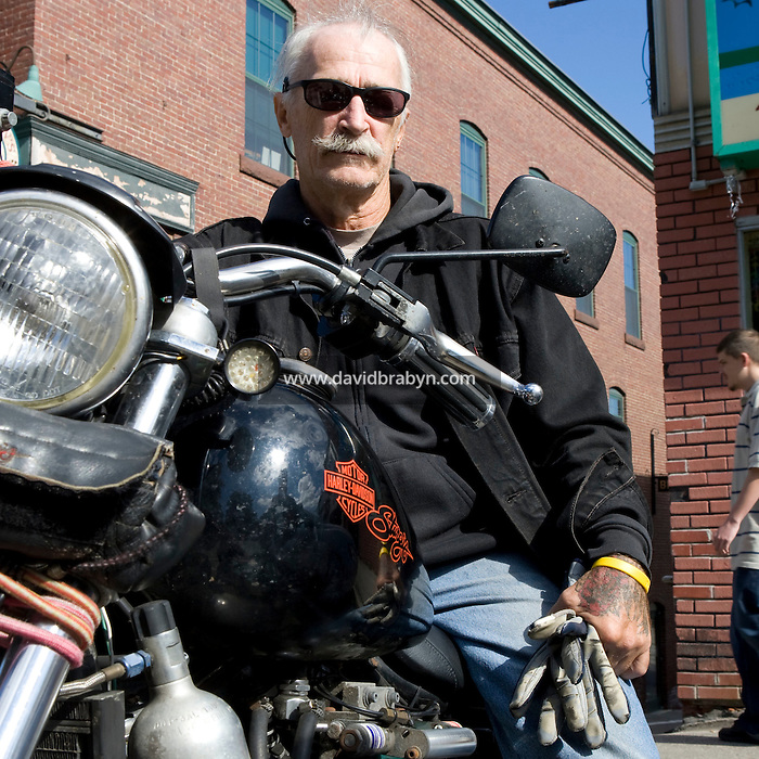 Jay Allen from Rumney, NH (seen here in Plymouth, NH), says he is undecided as to his vote in the 2008 US presidential election. He is 61, single, has 2 children and owns his home. He is a disabled Vietnam veteran. His household's yearly income is approximately $30,000.