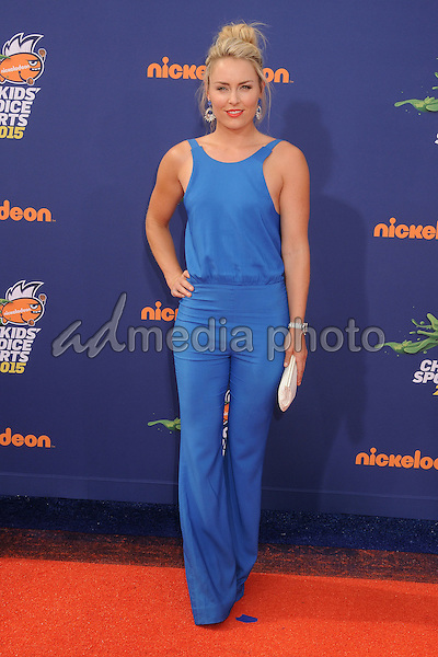 16 July 2015 - Westwood, California - Lindsey Vonn. Nickelodeon Kids Choice Sports Awards 2015 held at the UCLA Pauley Pavilion. Photo Credit: Byron Purvis/AdMedia