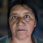20 noviembre 2014. <br /> Maria Francisca Gamasa (59 a&ntilde;os) Activista en contra de la hidroel&eacute;ctrica Ecoener, en Santa Cruz de Barillas, Guatemala.<br /> La llegada de algunas compa&ntilde;&iacute;as extranjeras a Am&eacute;rica Latina ha provocado abusos a los derechos de las poblaciones ind&iacute;genas y represi&oacute;n a su defensa del medio ambiente. En Santa Cruz de Barillas, Guatemala, el proyecto de la hidroel&eacute;ctrica espa&ntilde;ola Ecoener ha desatado cr&iacute;menes, violentos disturbios, la declaraci&oacute;n del estado de sitio por parte del ej&eacute;rcito y la encarcelaci&oacute;n de una decena de activistas contrarios a los planes de la empresa. Un grupo de ind&iacute;genas mayas, en su mayor&iacute;a mujeres, mantiene cortado un camino y ha instalado un campamento de resistencia para que las m&aacute;quinas de la empresa no puedan entrar a trabajar. La persecuci&oacute;n ha provocado adem&aacute;s que algunos ecologistas, con &oacute;rdenes de busca y captura, hayan tenido que esconderse durante meses en la selva guatemalteca.<br /> <br /> En Cob&aacute;n, tambi&eacute;n en Guatemala, la hidroel&eacute;ctrica Renace se ha instalado con amenazas a la poblaci&oacute;n y falsas promesas de desarrollo para la zona. Como en Santa Cruz de Barillas, el proyecto ha dividido y provocado enfrentamientos entre la poblaci&oacute;n. La empresa ha cortado el acceso al r&iacute;o para miles de personas y no ha respetado la estrecha relaci&oacute;n de los ind&iacute;genas mayas con la naturaleza. &copy;Calamar2/ Pedro ARMESTRE<br /> <br /> The arrival of some foreign companies to Latin America has provoked abuses of the rights of indigenous peoples and repression of their defense of the environment. In Santa Cruz de Barillas, Guatemala, the project of the Spanish hydroelectric Ecoener has caused murders, violent riots, the declaration of a state of siege by the army and the imprisonment of a dozen activists opposed to the project . <br /> A grou