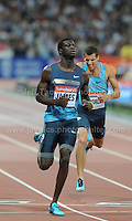 Kirani James of Grenada winning the Mens 400m race at the Sainsbury Anniversary Games, Olympic Stadium, London England, Friday 26th July 2013-Copyright owned by Jeff Thomas Photography-www.jaypics.photoshelter.com-07837 386244. No pictures must be copied or downloaded without the authorisation of the copyright owner.