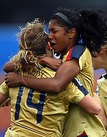 Lexi Harris and Elizabeth Eddy celebrate a goal..FIFA U17 Women's World Cup, Paraguay v USA, Waikato Stadium, Hamilton, New Zealand, Sunday 2 November 2008. Photo: Renee McKay/PHOTOSPORT