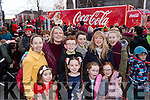 Pictured at the Coca Cola Truck in Listowel on Sunday last, were front l-r: Éabha Buckley, Georgia Whyte, Sophie Whyte and Clodagh Foster. Back l-r: Katie Buckley, Ann Whyte, Aaron Whyte, Amy Whyte, Mairead Foster and Shannon Foster.
