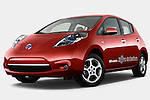 Nissan Leaf SL Electric Hatchback 2011 Stock Photo