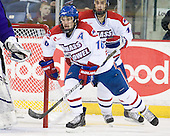 Riley Wetmore (Lowell - 16), Joseph Pendenza (Lowell - 14) - The visiting Minnesota State University-Mankato Mavericks defeated the University of Massachusetts-Lowell River Hawks 3-2 on Saturday, November 27, 2010, at Tsongas Arena in Lowell, Massachusetts.