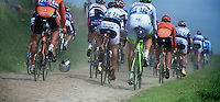 Paris-Roubaix 2012 ..helmet as bowling ball in the peloton
